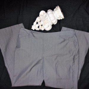 omans size 12 medium gray pin stripe pants dress